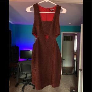 Deep red sparkly dress